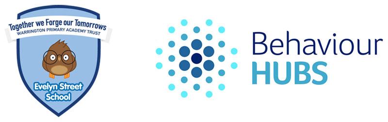 Evelyn Street School and Behaviour Hubs logos
